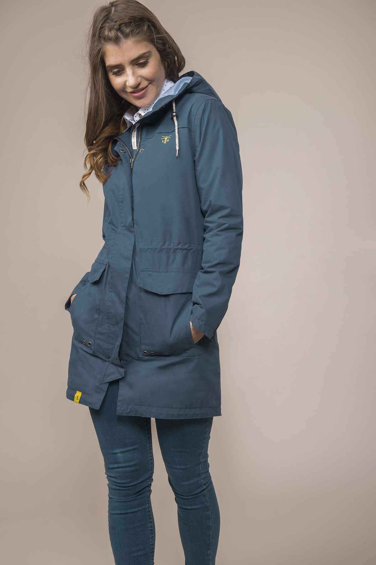 Lighthouse Paige midnight women's waterproof parka