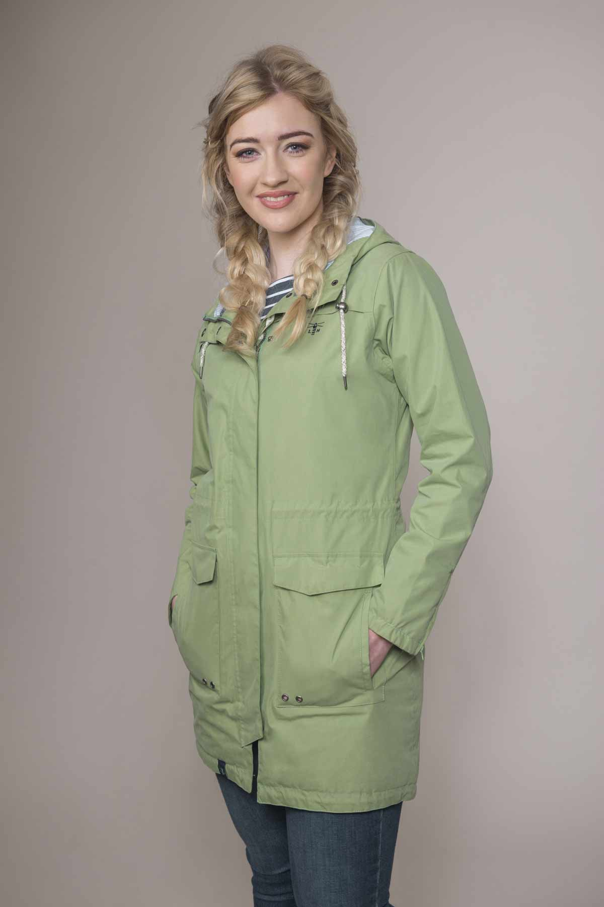 Lighthouse Paige pistachio women's waterproof parka