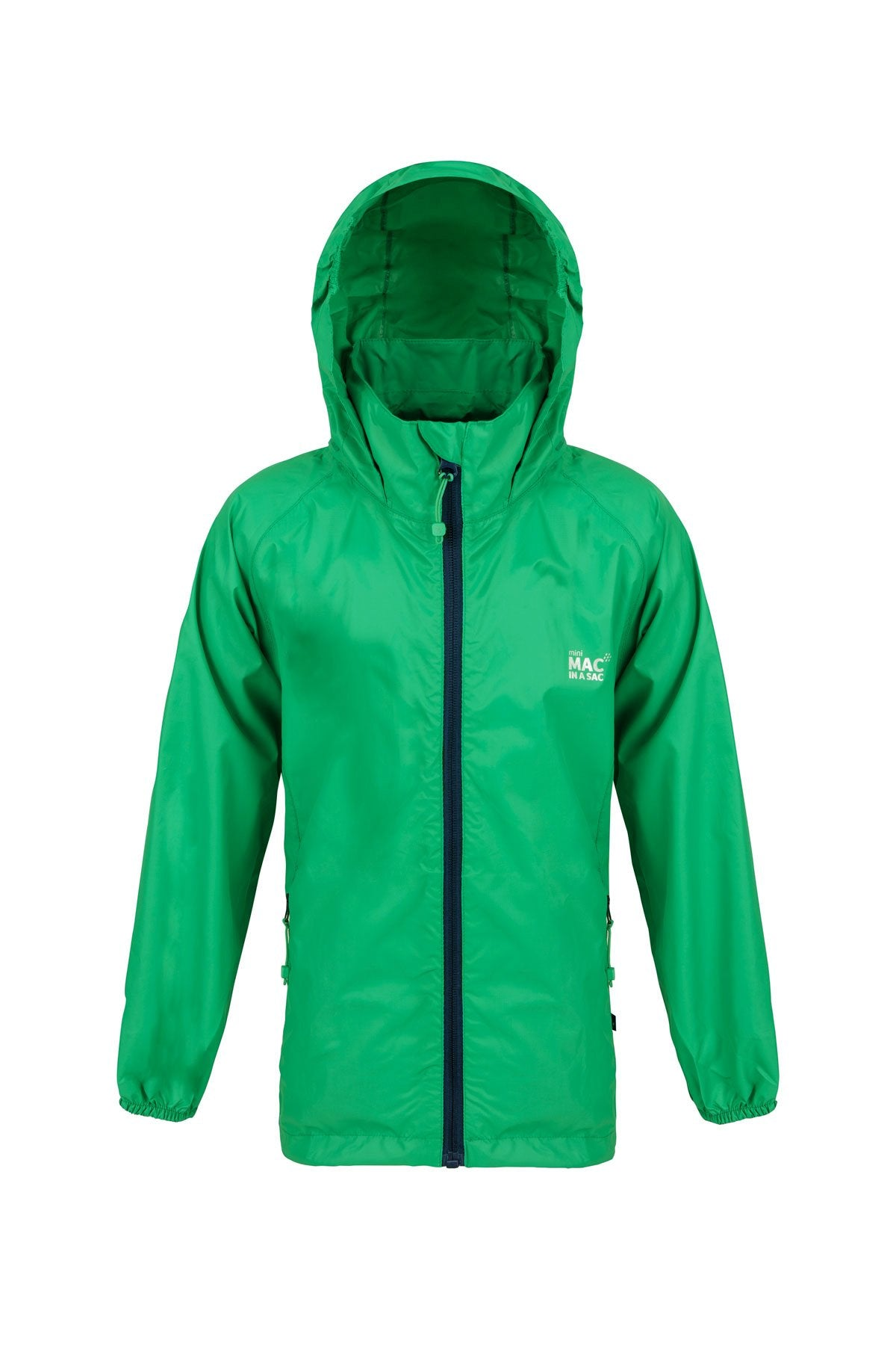 Kids Packable Waterproof Jacket - Green