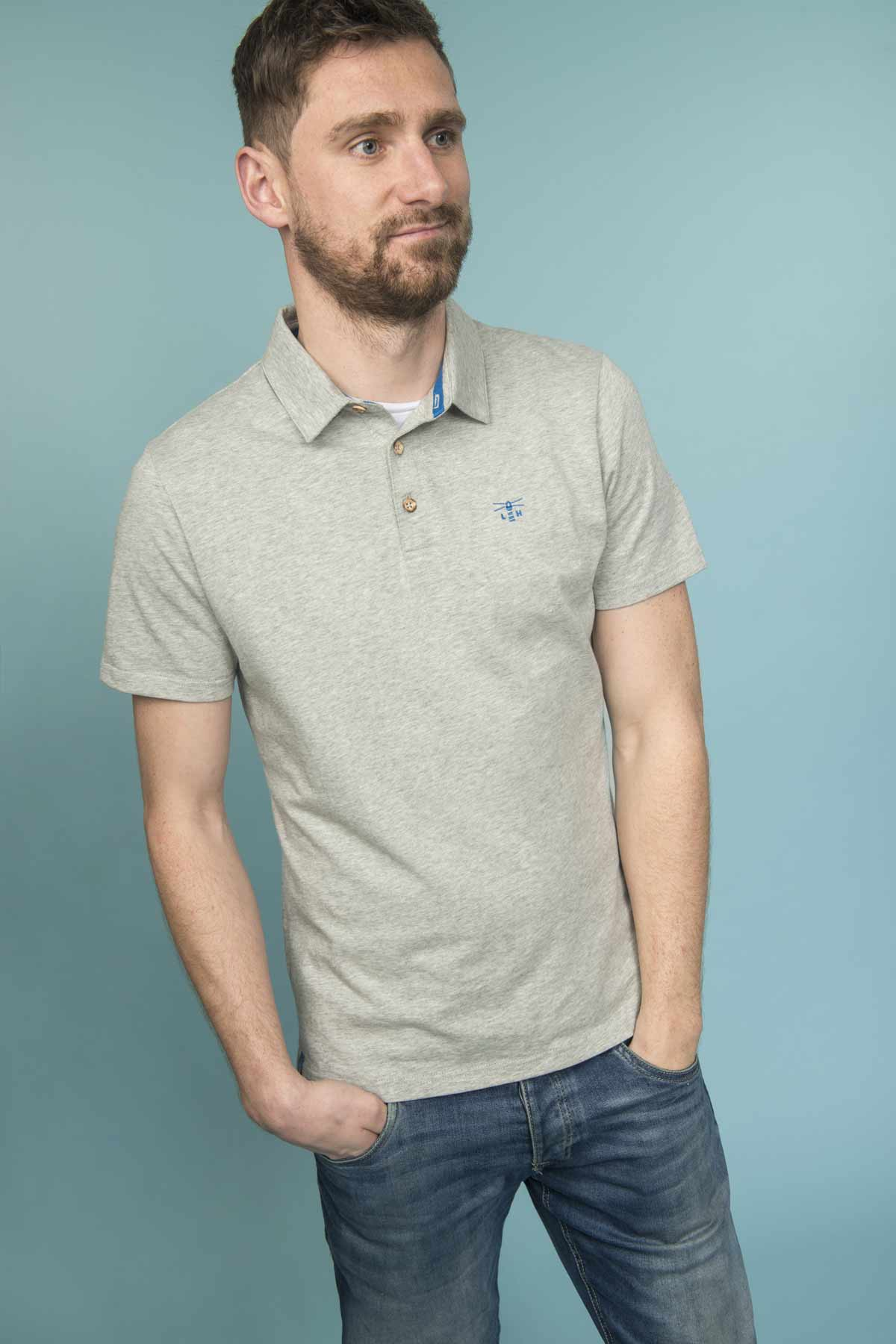 Lighthouse Pier Polo - Men's Classic Polo Shirt - Grey