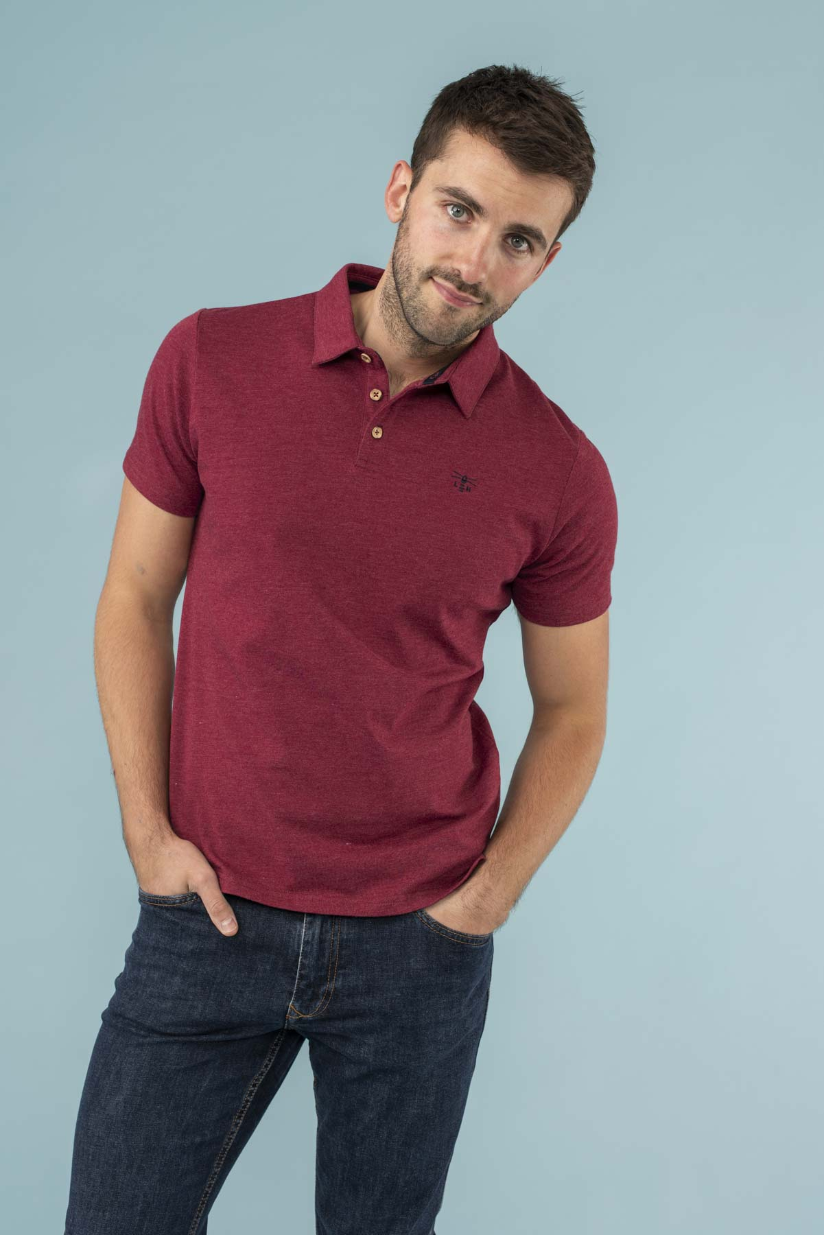 Lighthouse Pier Polo - Men's Classic Polo Shirt - Red