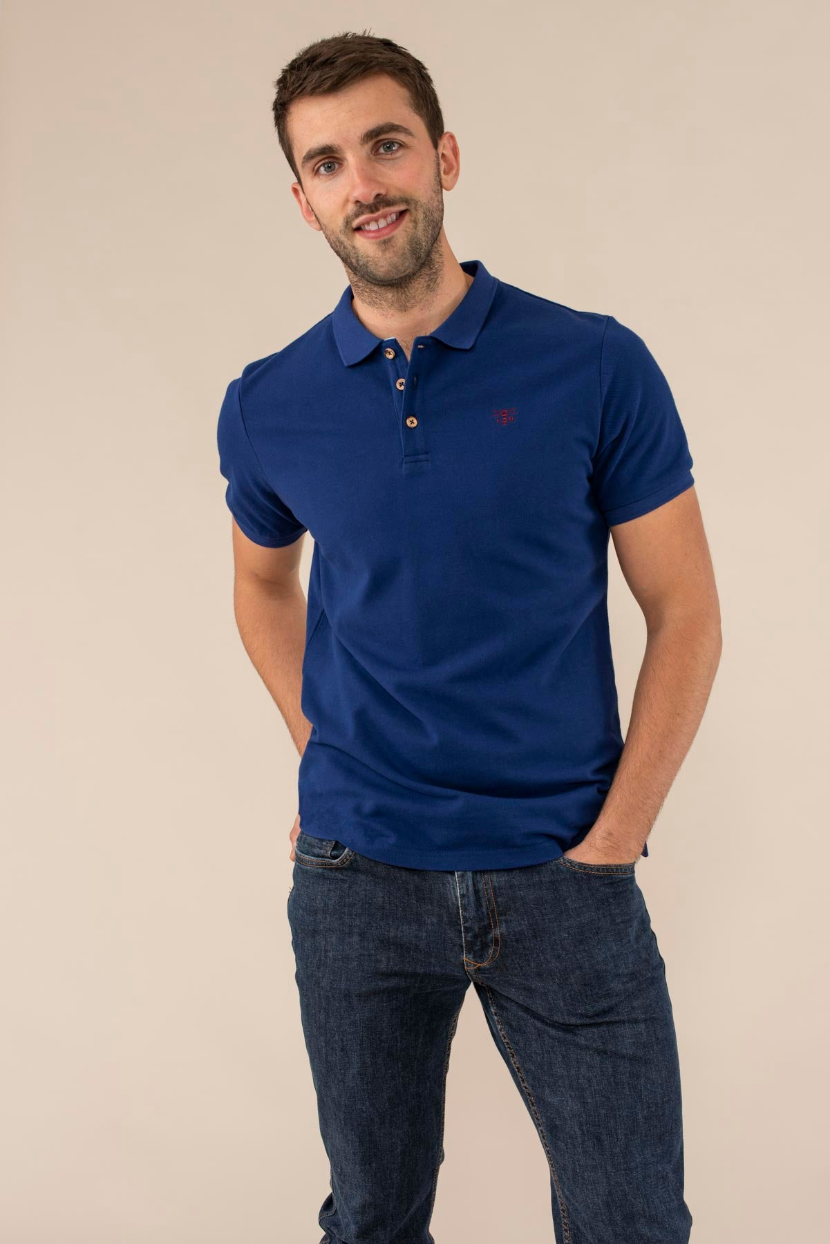 Lighthouse Pier Polo - Men's Classic Polo Shirt - Blue