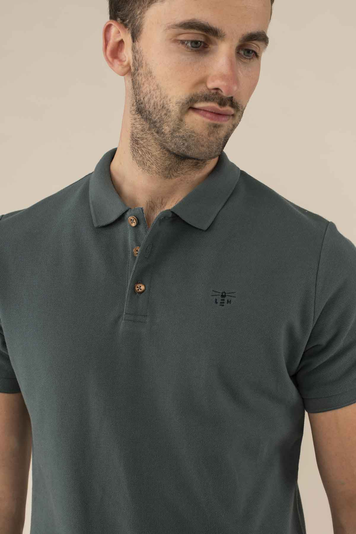 Lighthouse Pier Polo - Men's Classic Polo Shirt - Olive Green