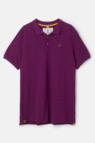 Pier Polo Shirt - Grape Pique