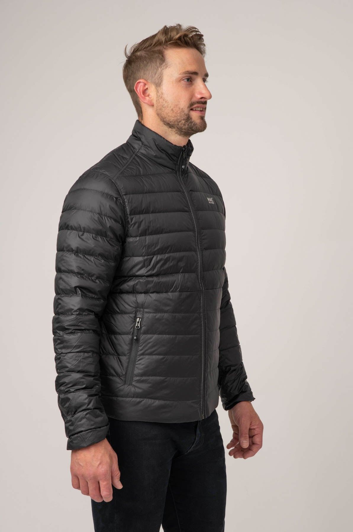 Polar II Mens Down Jacket - Jet Black Charcoal