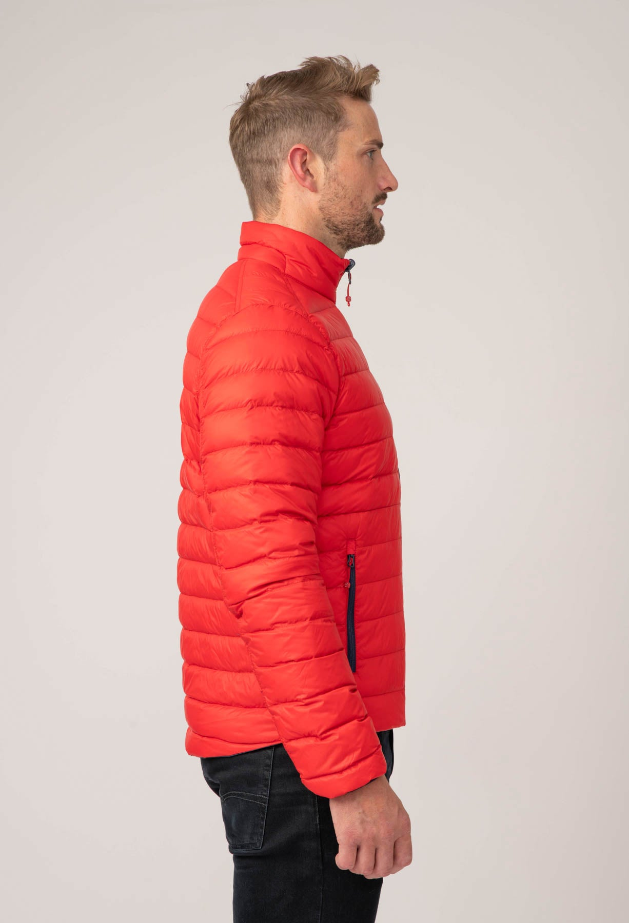 Polar II Mens Down Jacket - Navy Red