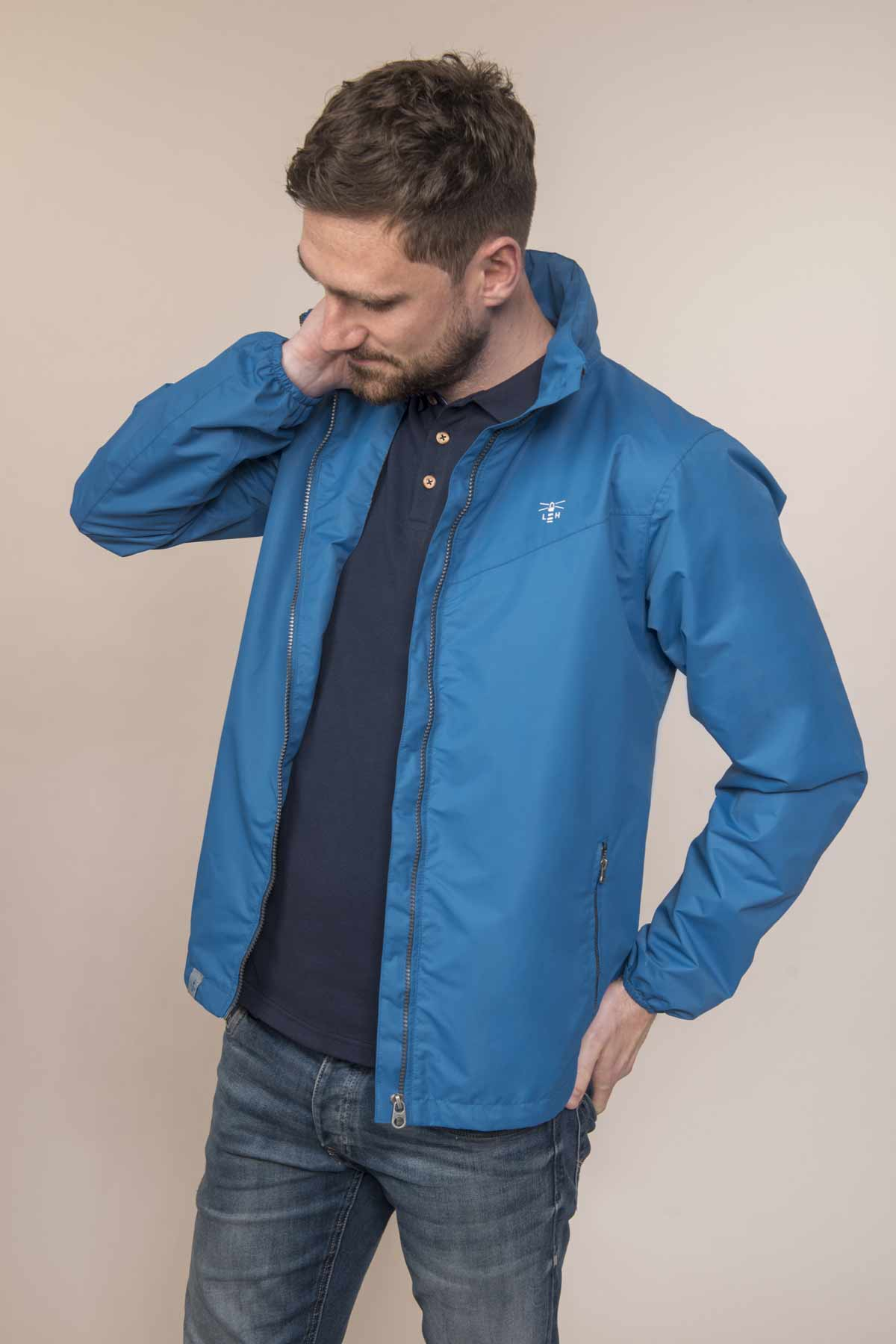 Lighthouse Portland greystone men's waterproof coat