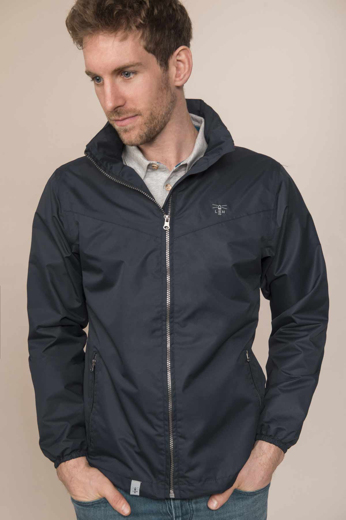 Lighthouse Portland navy men's waterproof coat