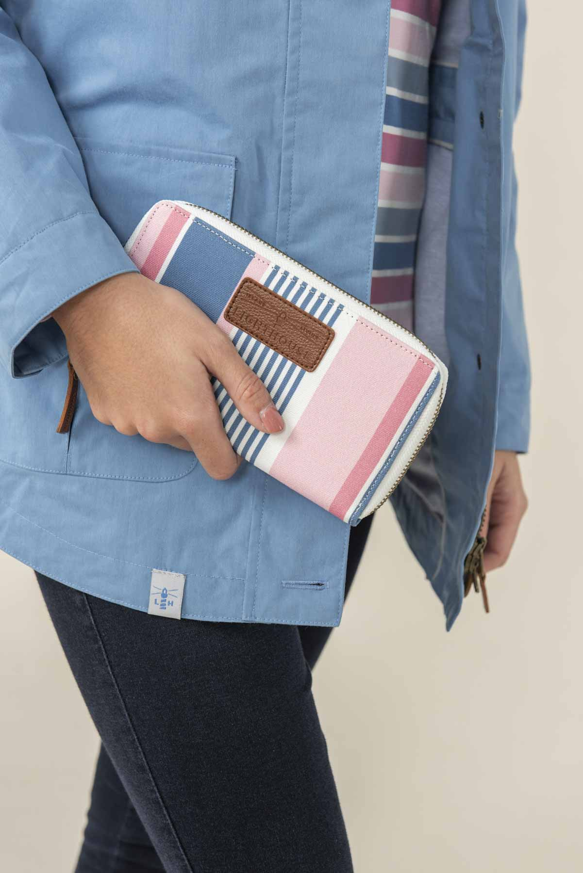 Women's Accessories - Pink blue striped purse