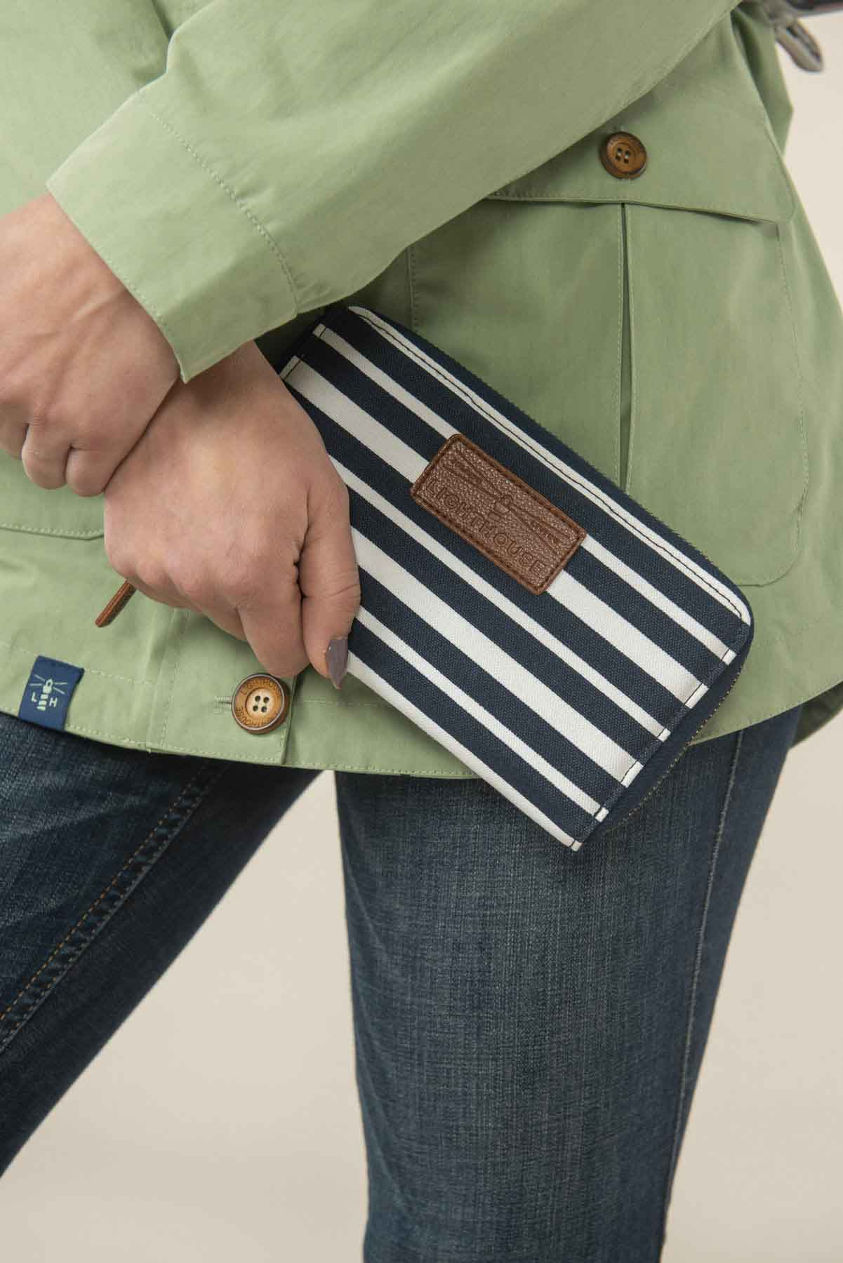 Women's Accessories - Navy striped purse