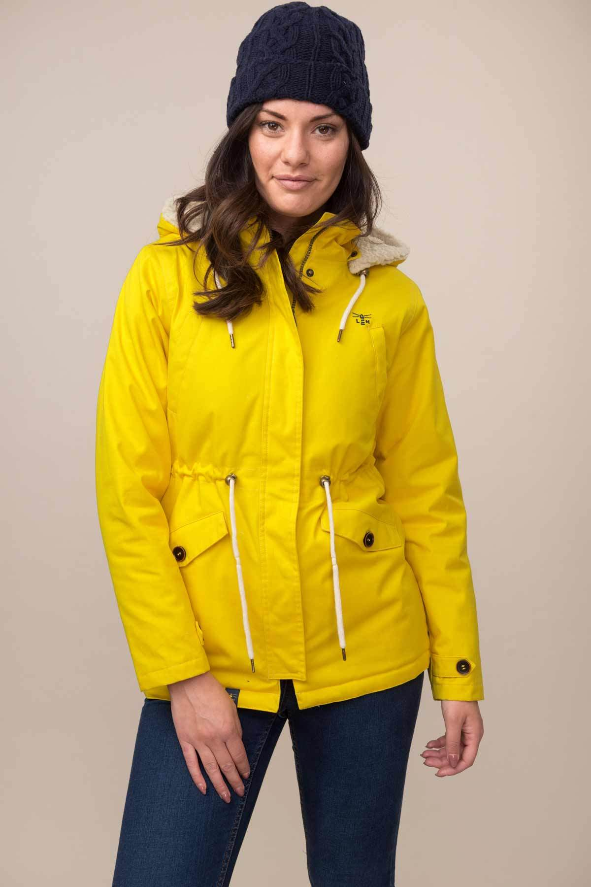Lighthouse Raven - Womens Padded Raincoat - Yellow