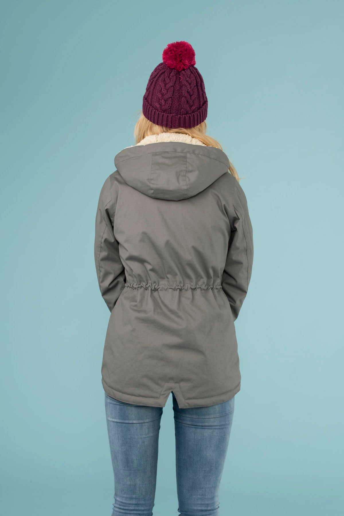 Raven Coat. Womens Warm Grey Raincoat | Lighthouse