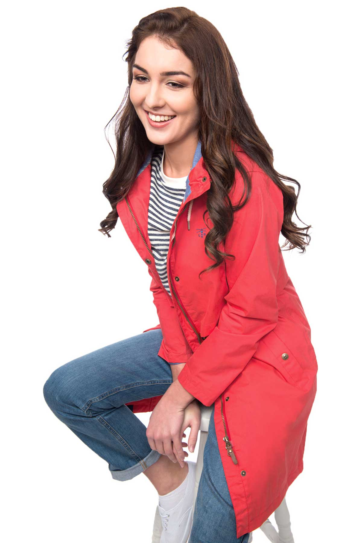 Lighthouse Rayna women's red waterproof parka