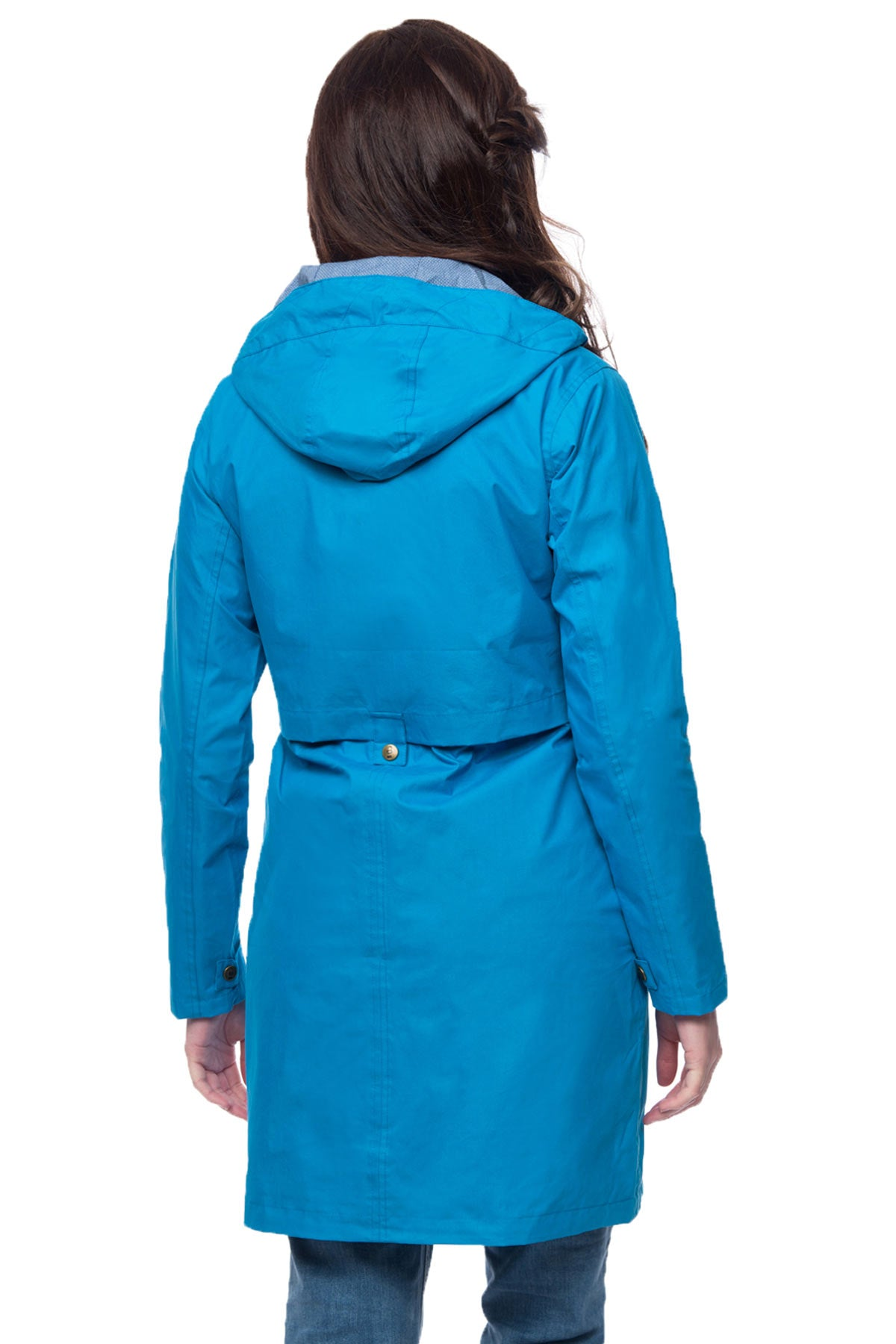 Lighthouse Rayna women's blue waterproof parka