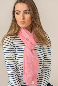 Riviera Scarf - Rose Pink Floral