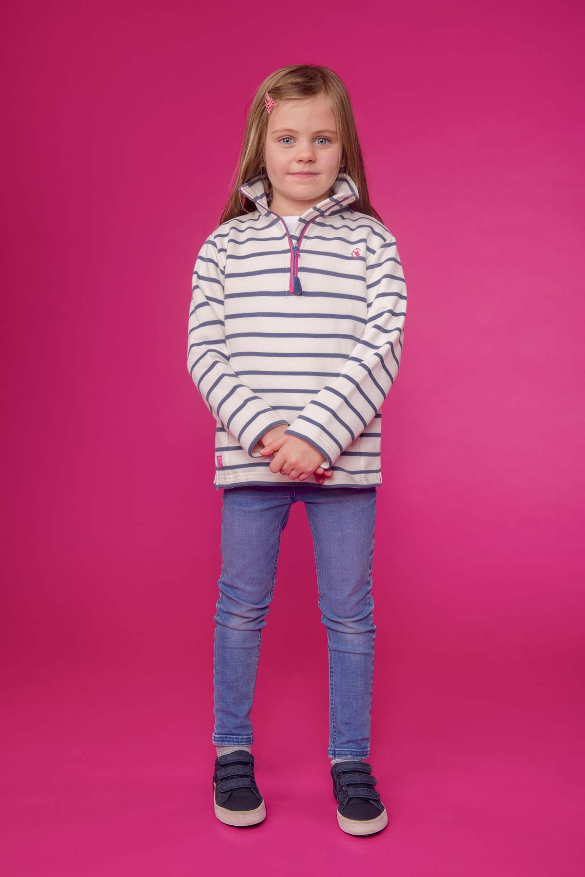 Lighthouse Robyn blue stripe sweatshirt