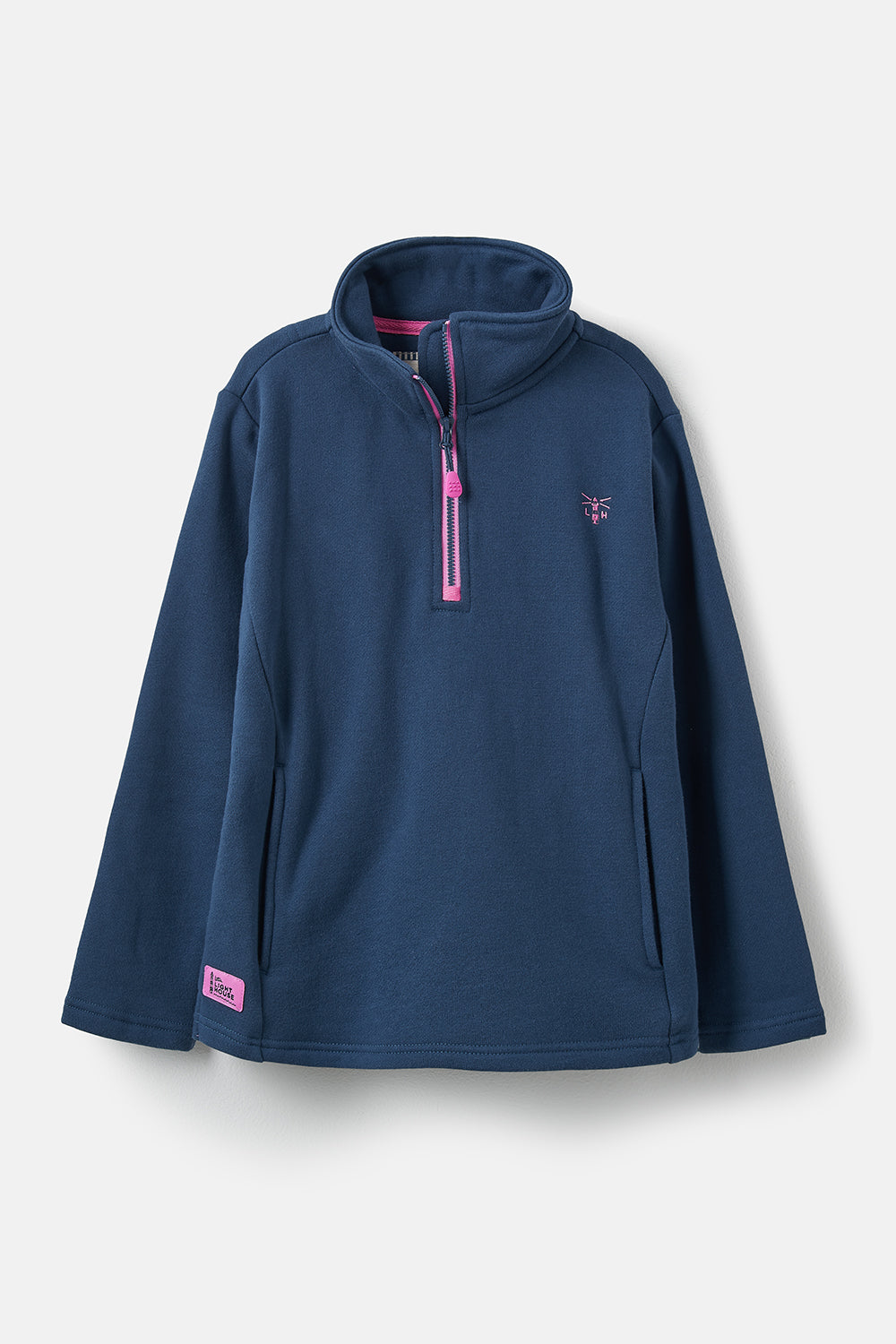 Lighthouse Robyn - Girl's Half Zip Sweatshirt - Navy