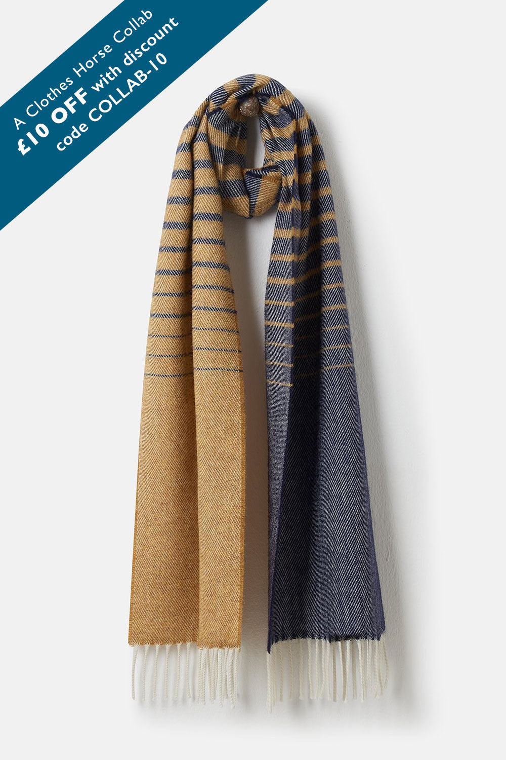 Merino Scarf - Sunrise Night Sky Stripe