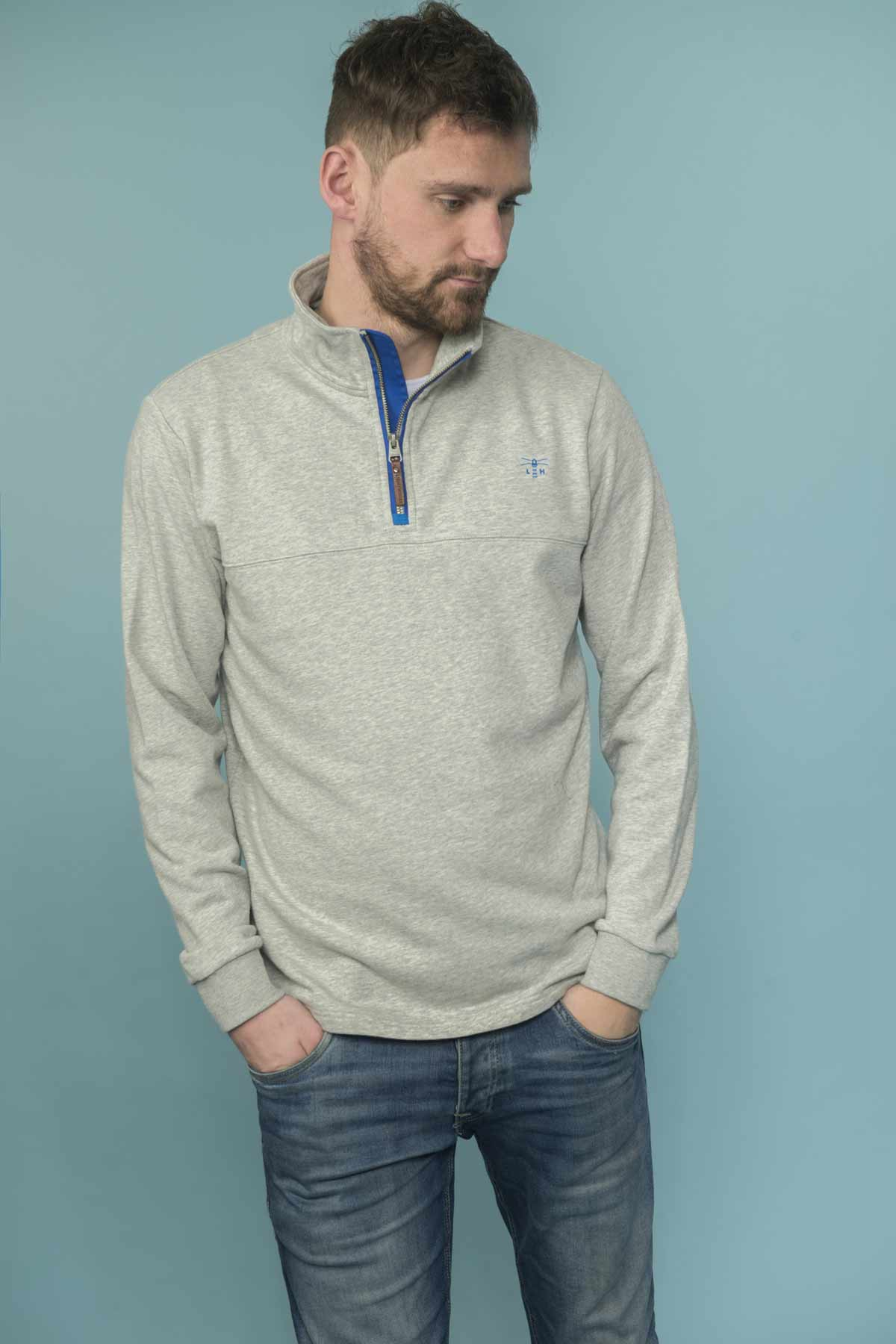Lighthouse Seafarer men's light grey sweater