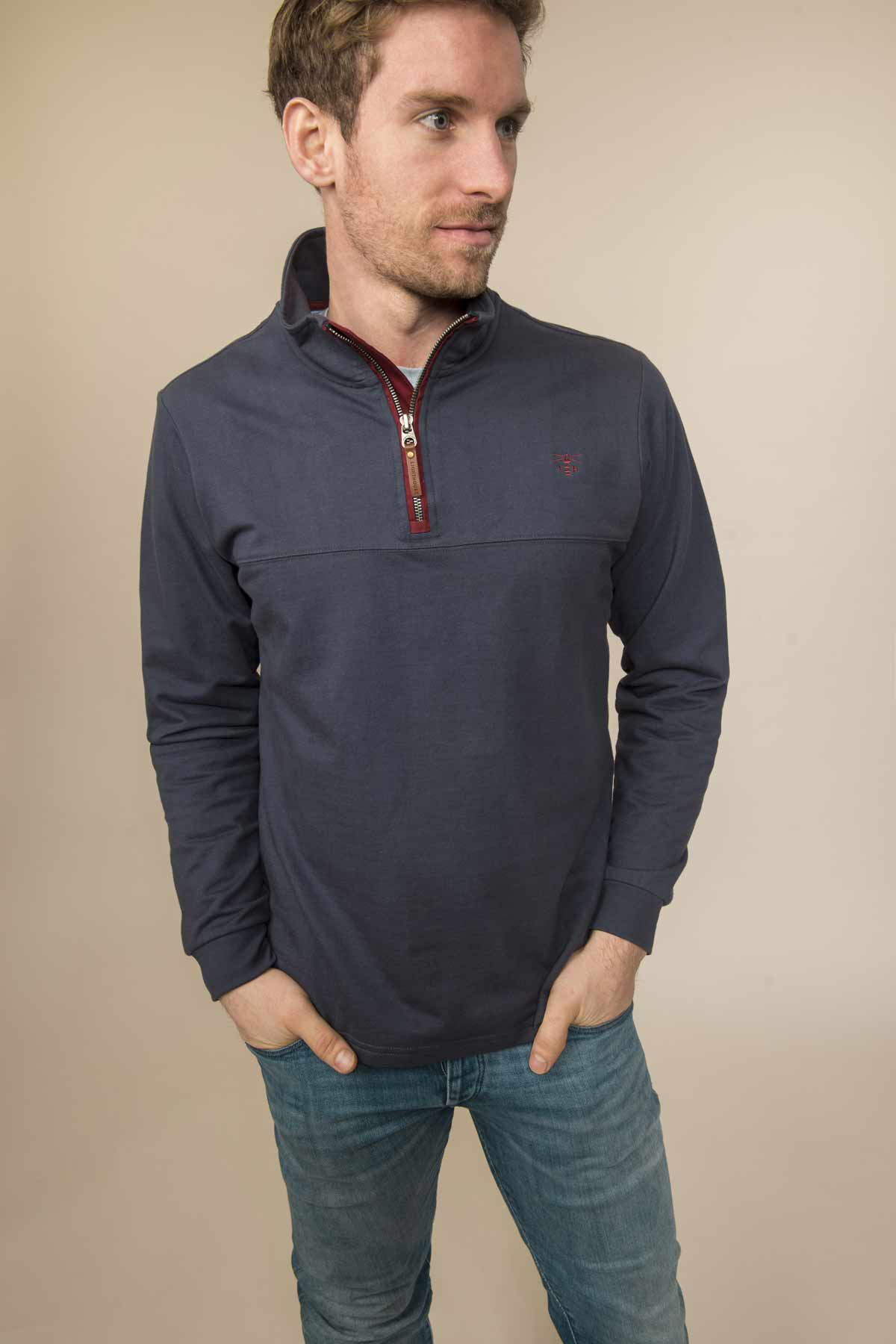 Lighthouse Seafarer men's navy sweater