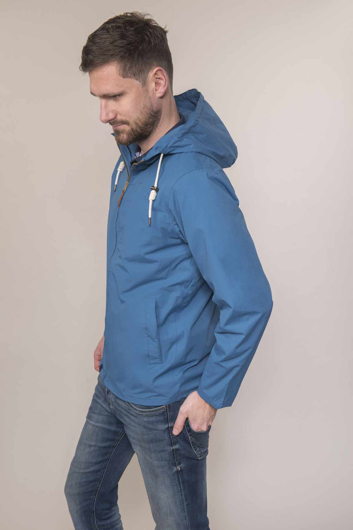 Lighthouse Seaport blue men's waterproof jacket