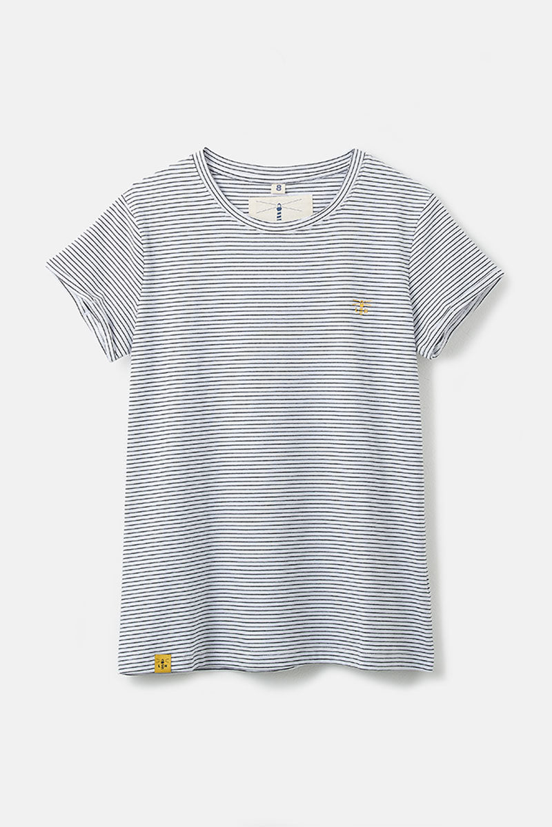 Seashore Women's Breton T-Shirt - Hanger Shot