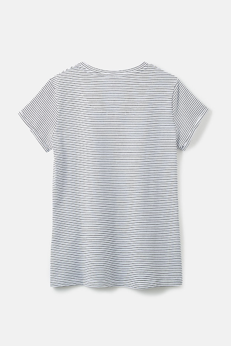 Lighthouse Seashore Women's T-Shirt Cloud Midnight Stripe