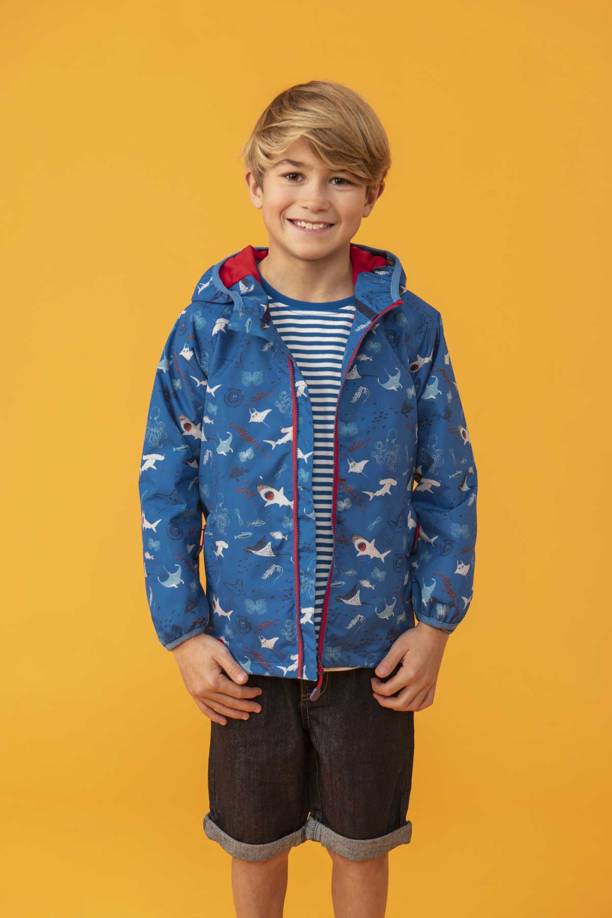 Boy's Coats - Sebastian - Blue Raincoat