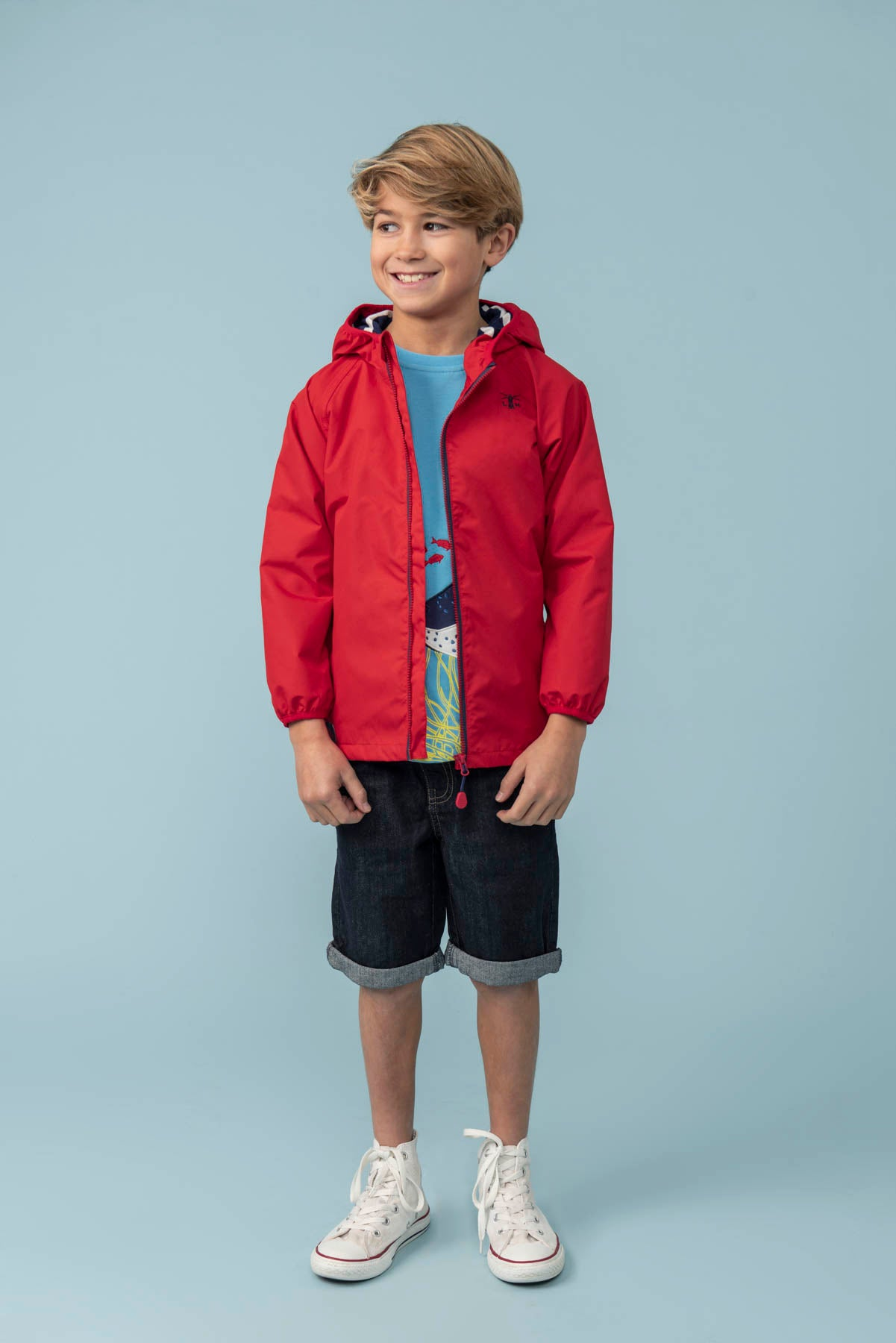 Boy's Coats - Sebastian - Red Raincoat