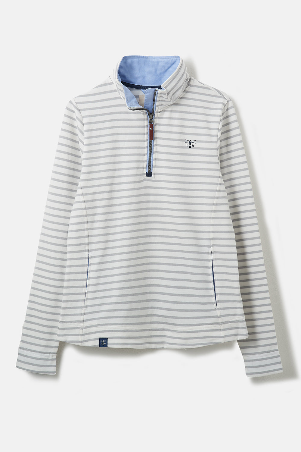 Lighthouse Women's Shore Sweatshirt Harbour Mist Stripe