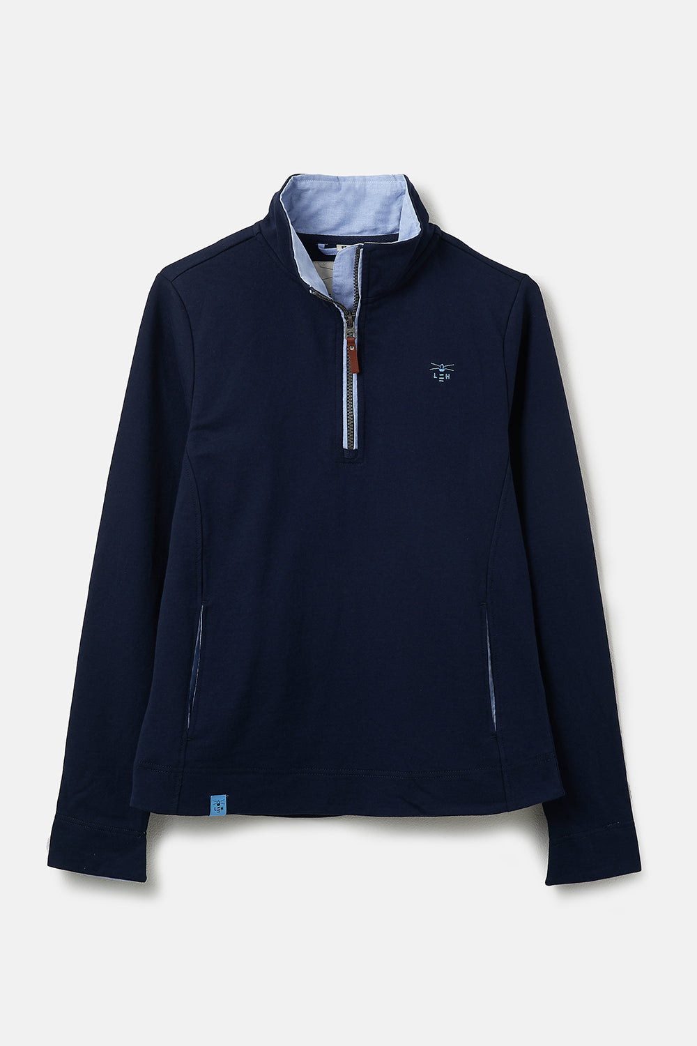 Women's Tops - Shore Sweatshirt - Navy Half Zip Sweatshirt