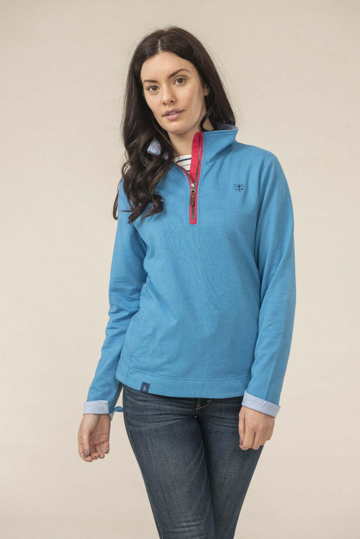 Lighthouse Shore - Women's Sweatshirt - Blue