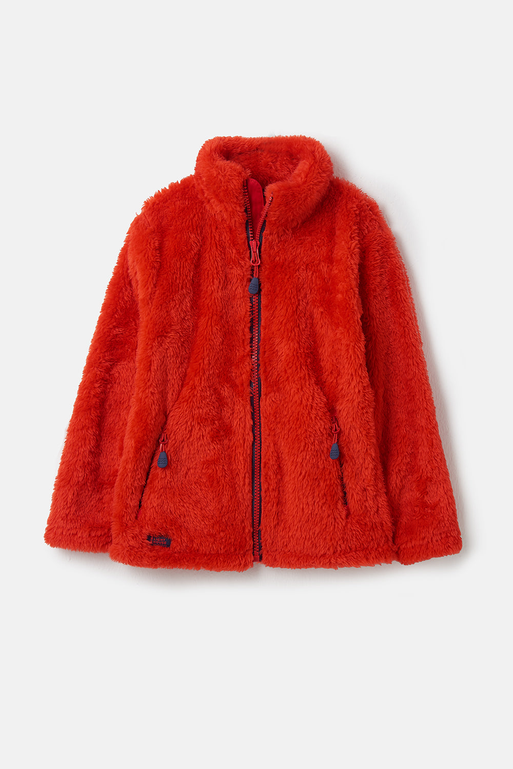 Ted Fleece - Red, Boy's Full Zip Sherpa Fleece | Lighthouse