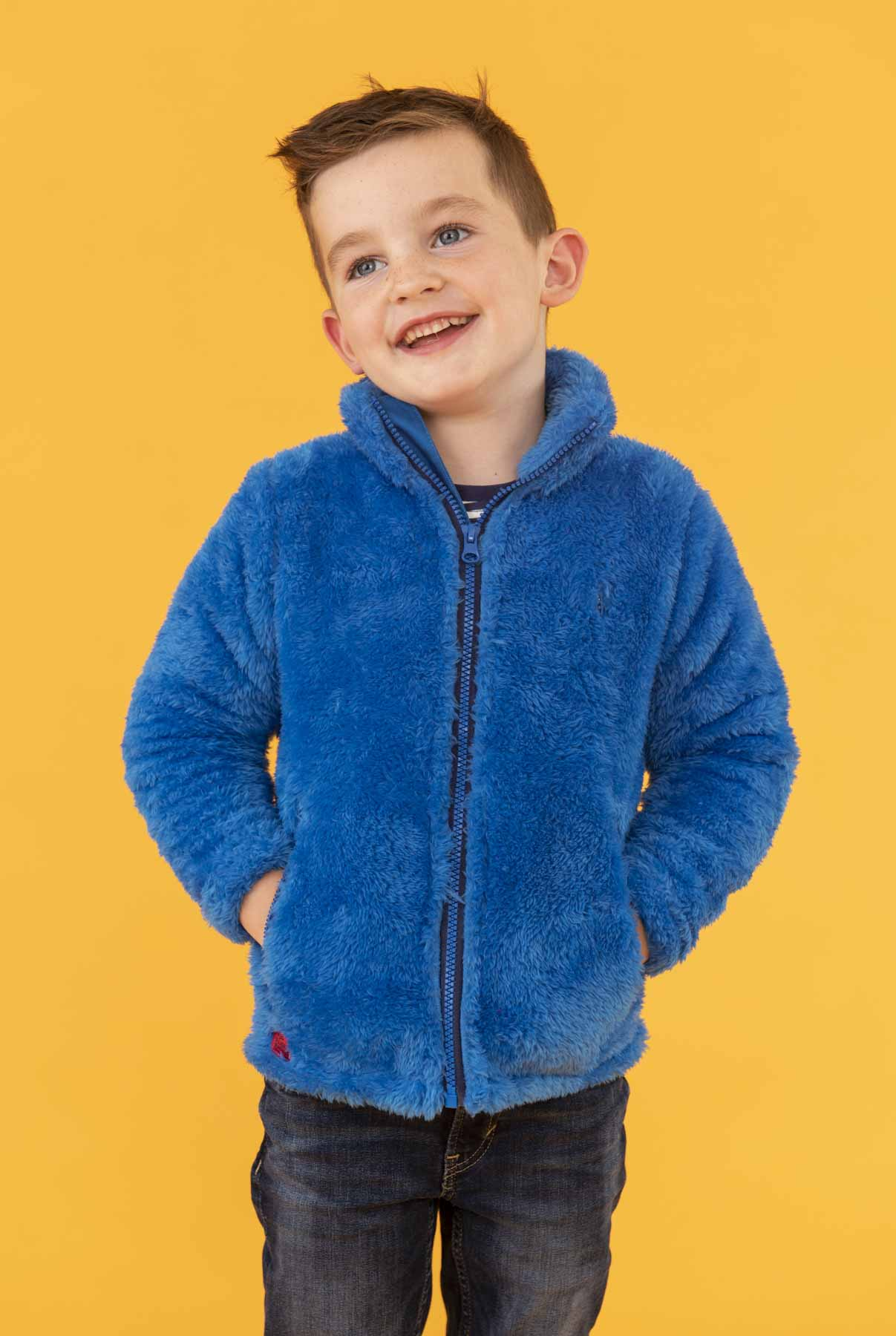 Ted Fleece - Blue, Boy's Full Zip Sherpa Fleece | Lighthouse
