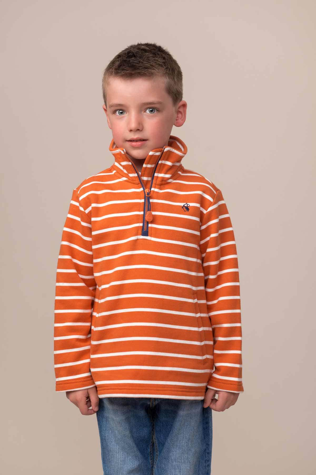 Thom Jersey - Burnt Orange Stripe