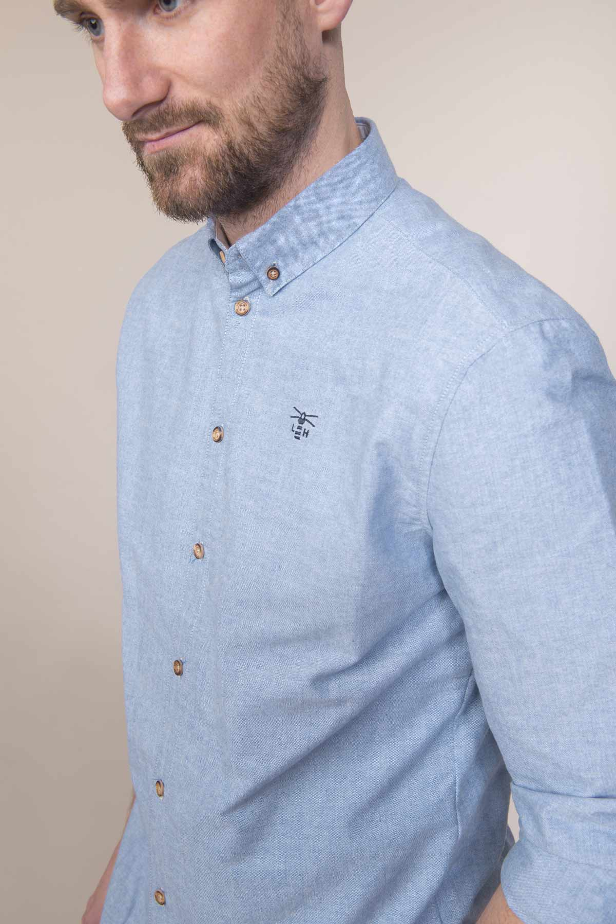 Lighthouse Tide men's light oxford shirt