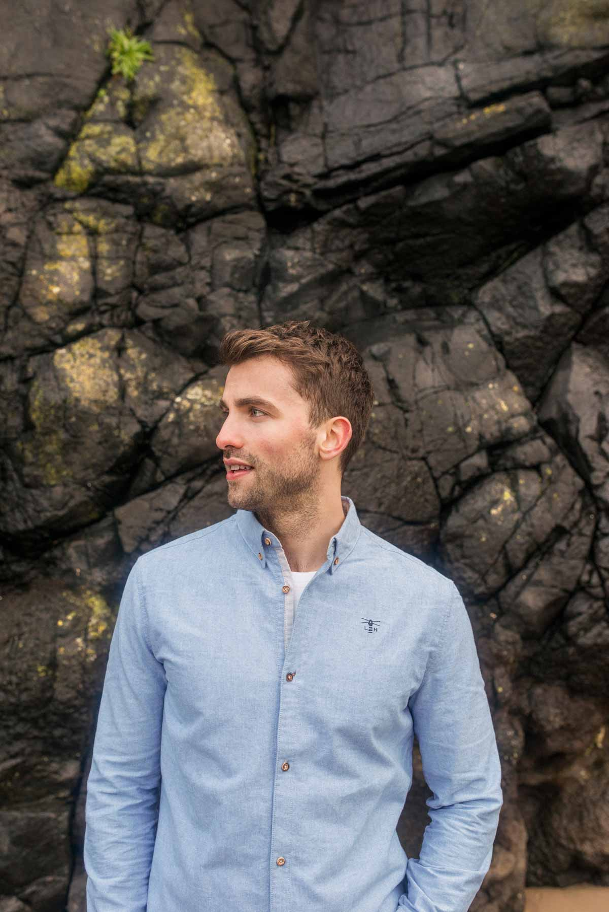 Lighthouse Tide Mens Shirt - At the beach