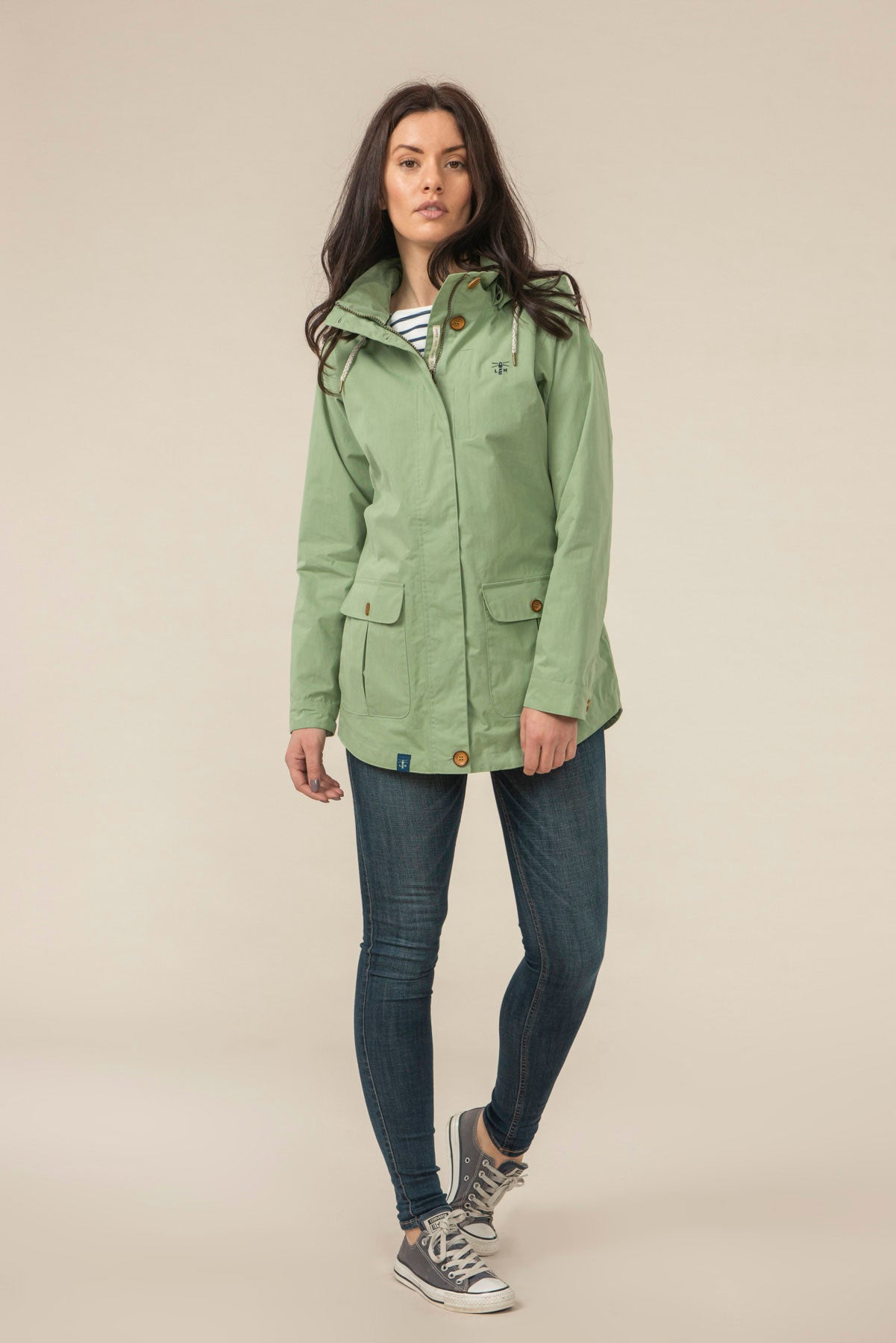 Women's Coats - Tori - Green Raincoat