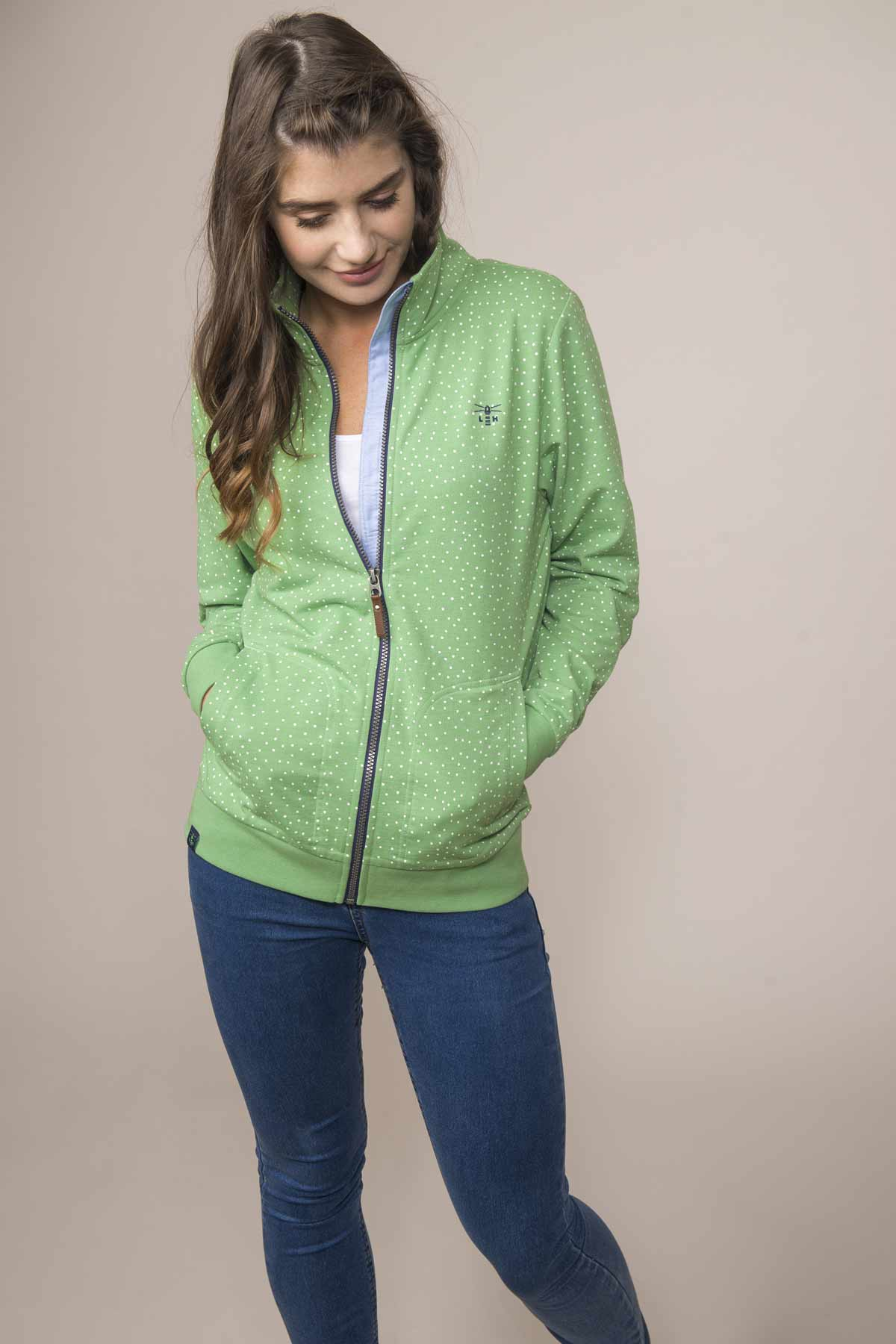 Lighthouse Tyrella Womens Sweatshirt Pistachio Dot