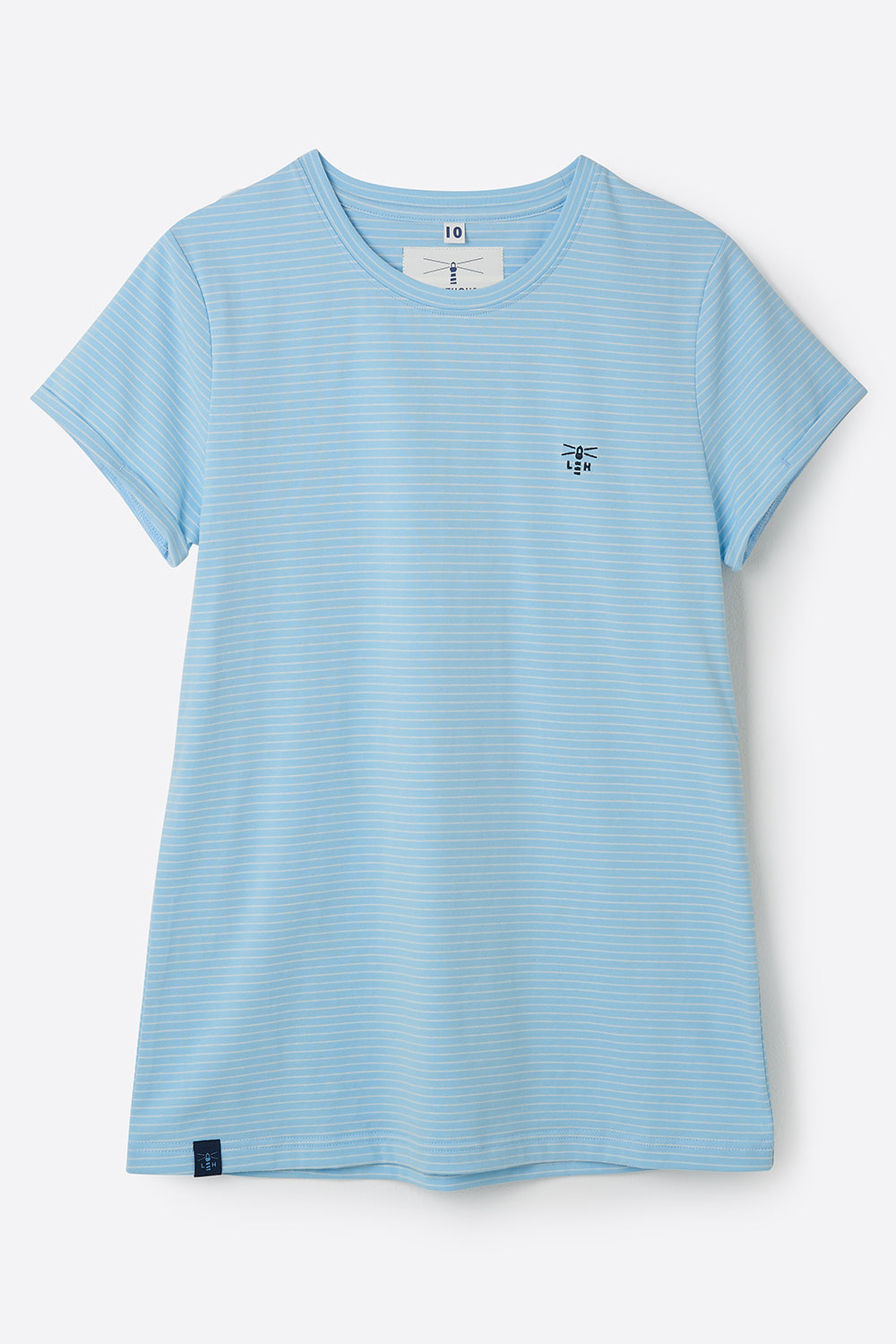 Seashore T Shirt - Pale Blue Stripe