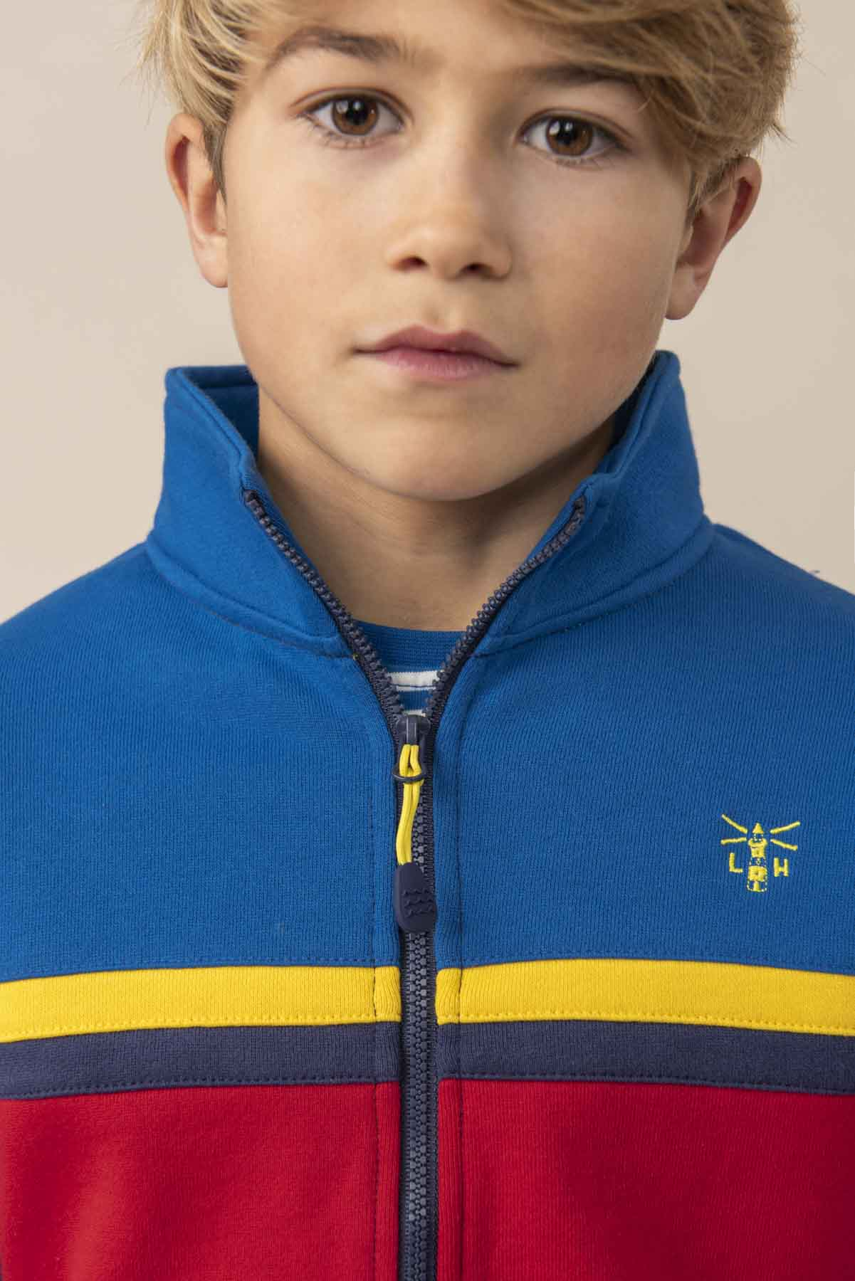 Boy's Tops - Zach - Blue Full Zip Top