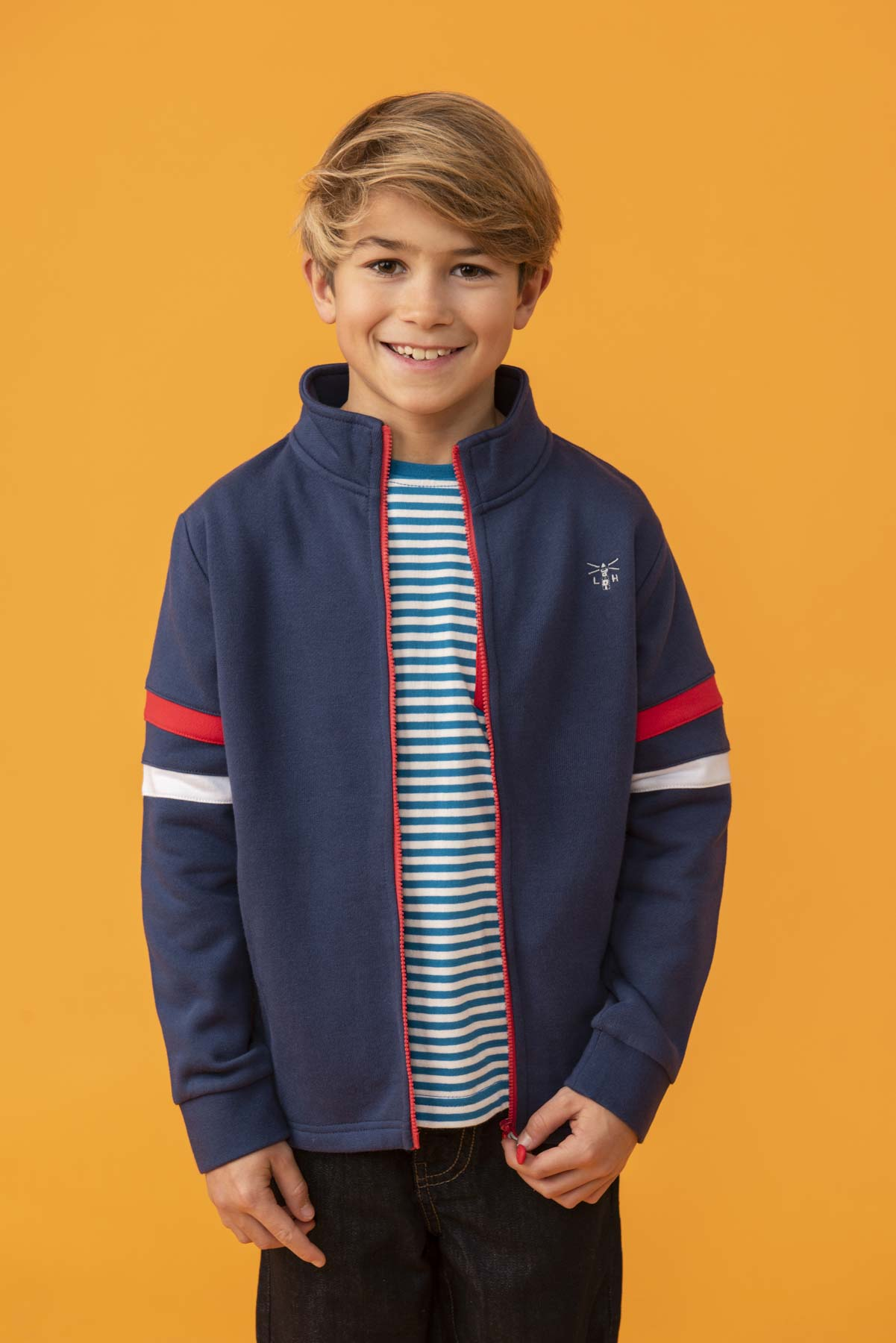 Boy's Tops - Zach - Navy Full Zip Top