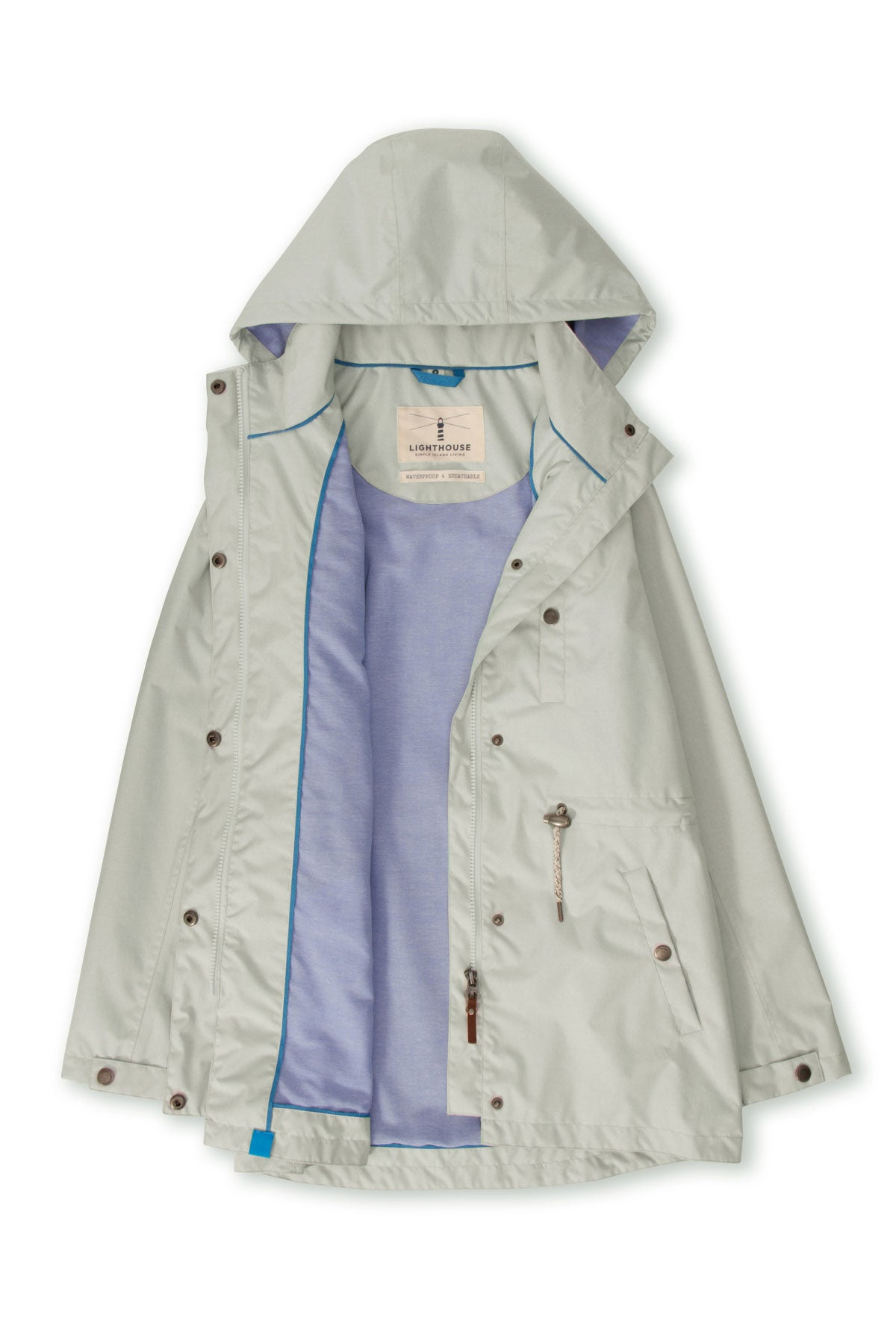 Lighthouse Fran Women's Waterproof Jacket - Harbour Mist