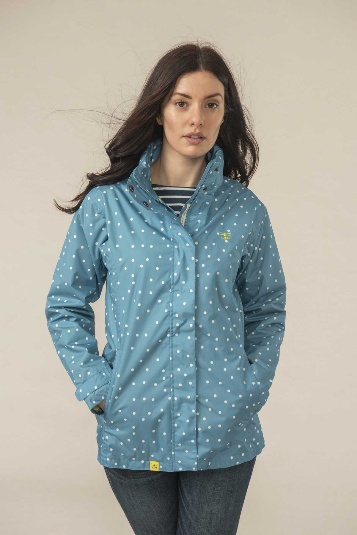 Alia Jacket - Blue Sail Dot