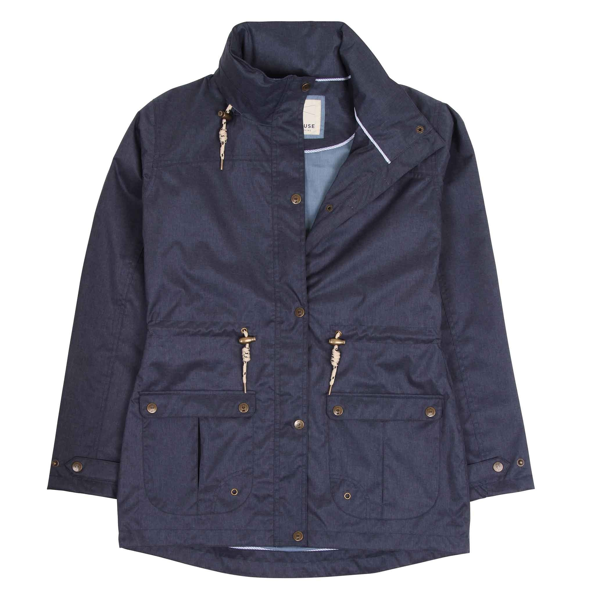 Isla Short Waterproof Coat - French Navy
