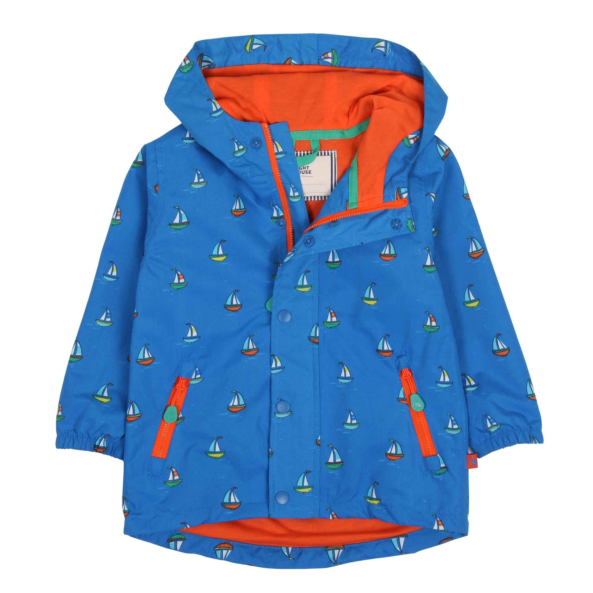 Skipper Nautical Coat - Bright Blue Boat