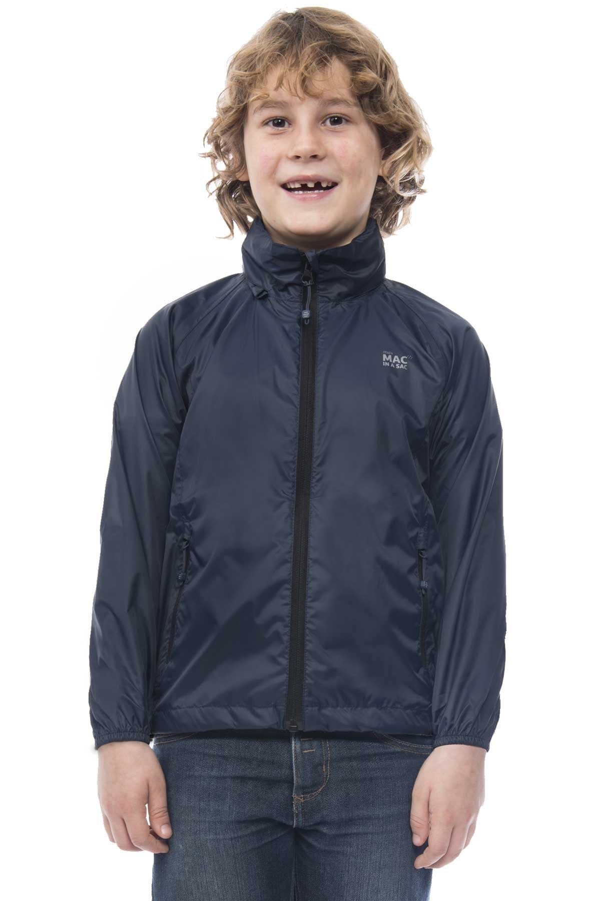 Kids Packable Waterproof Jacket - Navy