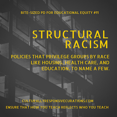 Why structural racism matters?