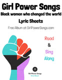 Digital Coloring Book of Black women who changed the world - Girl Power Songs: Black women who changed the world