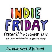 Indie Friday and the Just a Card campaign